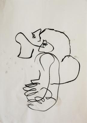 2010   86 x 61cm  papier / kohle