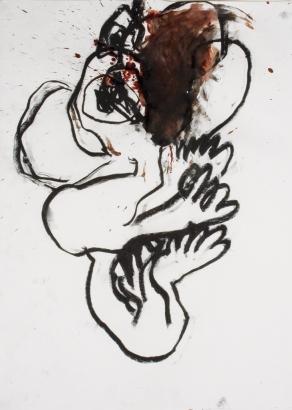 psychotrauma V  2009   86 x 61cm  papier / kohle