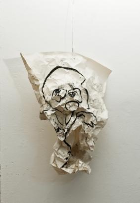 selbstportrait 1  2010   86 x 61cm  papier / kohle