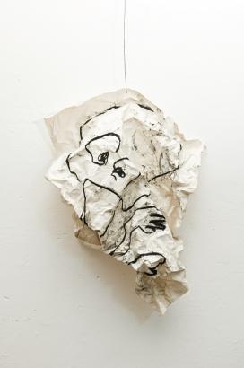 selbstportrait 3  2010   86 x 61cm  papier / kohle