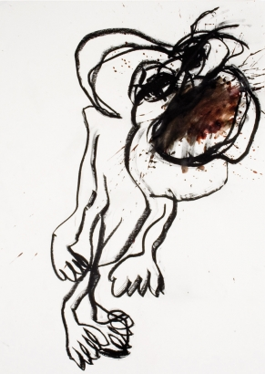 psychotrauma IV  2009   86 x 61cm  papier / kohle