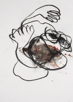 psychotrauma III 2009   86 x 61cm  papier / kohle