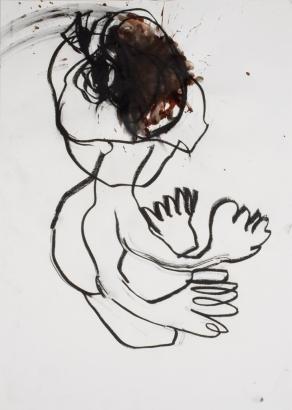 psychotrauma VI  2009   86 x 61cm  papier / kohle