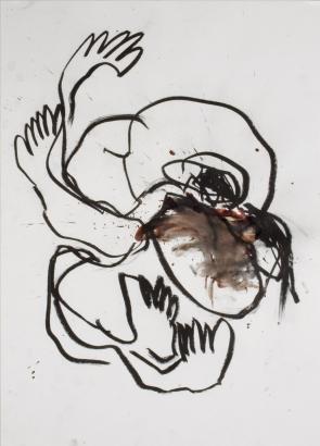 psychotrauma II  2009   86 x 61cm  papier / kohle