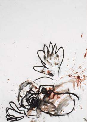 psychotrauma VIII  2009   86 x 61cm  papier / kohle